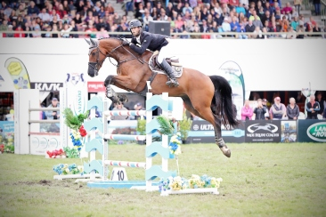Class 33 Silver Fern Stakes Land Rover Premier Arena Horse of the Year show 2017. Photo: Christine Cornege/ Cornege Photography.