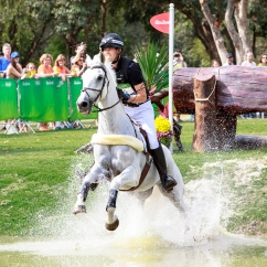 NZL-Clarke Johnstone (BALMORAL SENSATION) during the Cross Country for the Equestrian Eventing (Interim-=7th). Rio 2016 Olympic Games, Centro Olímpico de Hipismo, Rio de Janeiro, Brazil. Monday 8 August. Copyright photo: Libby Law Photography