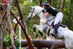 NZL-Clarke Johnstone (BALMORAL SENSATION) during the Cross Country for the Equestrian Eventing (Interim-=7th). Rio 2016 Olympic Games, Centro Olímpico de Hipismo, Rio de Janeiro, Brazil. Monday 8 August. Copyright photo: Libby Law Photography